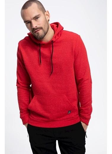 DeFacto Kapşonlu Slim Fit Sweatshirt Kırmızı